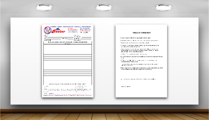 Invoice and quotation design printing graphic design