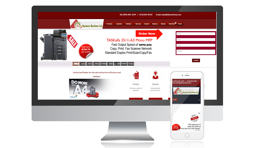 E commerce web design