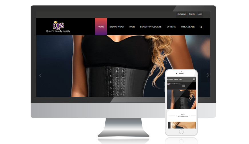 WVD portfolio website queensbeautysupply