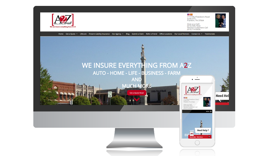 WVD portfolio website A2Zinsurance Copy