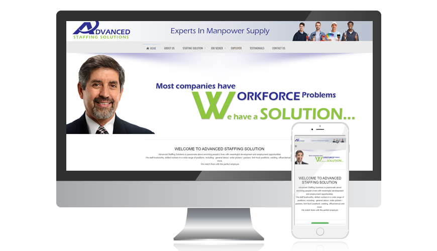 website screen template advancedstaffing