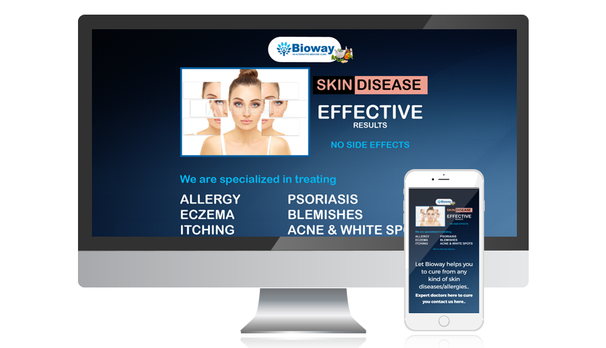 website screen template bioway