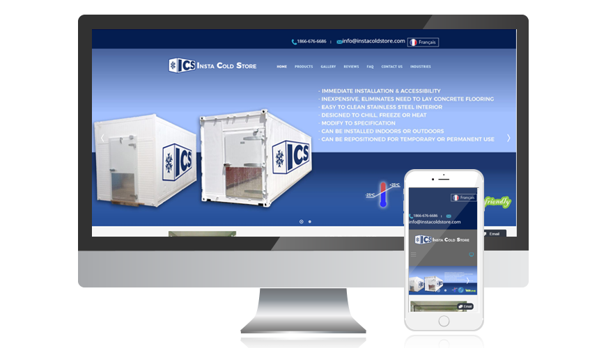 website screen template ics