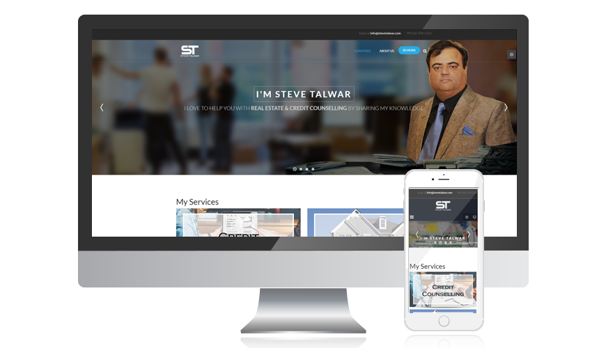 website screen template stevetalwar
