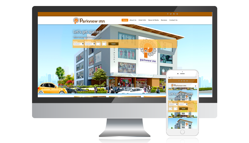 website screen template parkviewinn